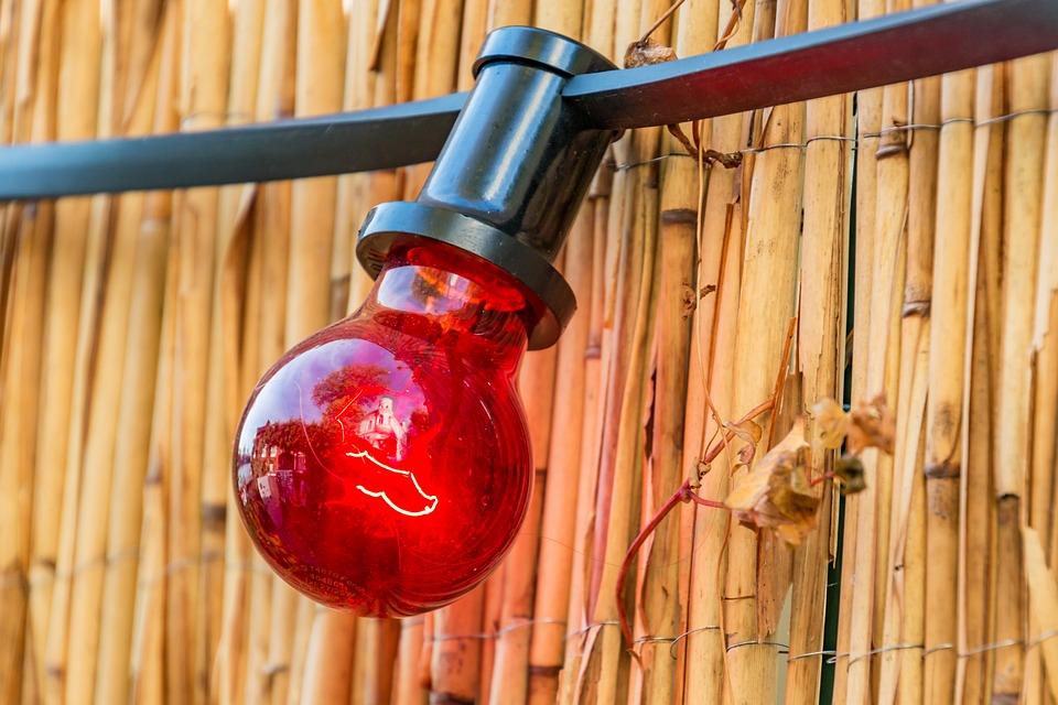 Light, Red Light, Lighting, Lamp, Reed, Lichterkette