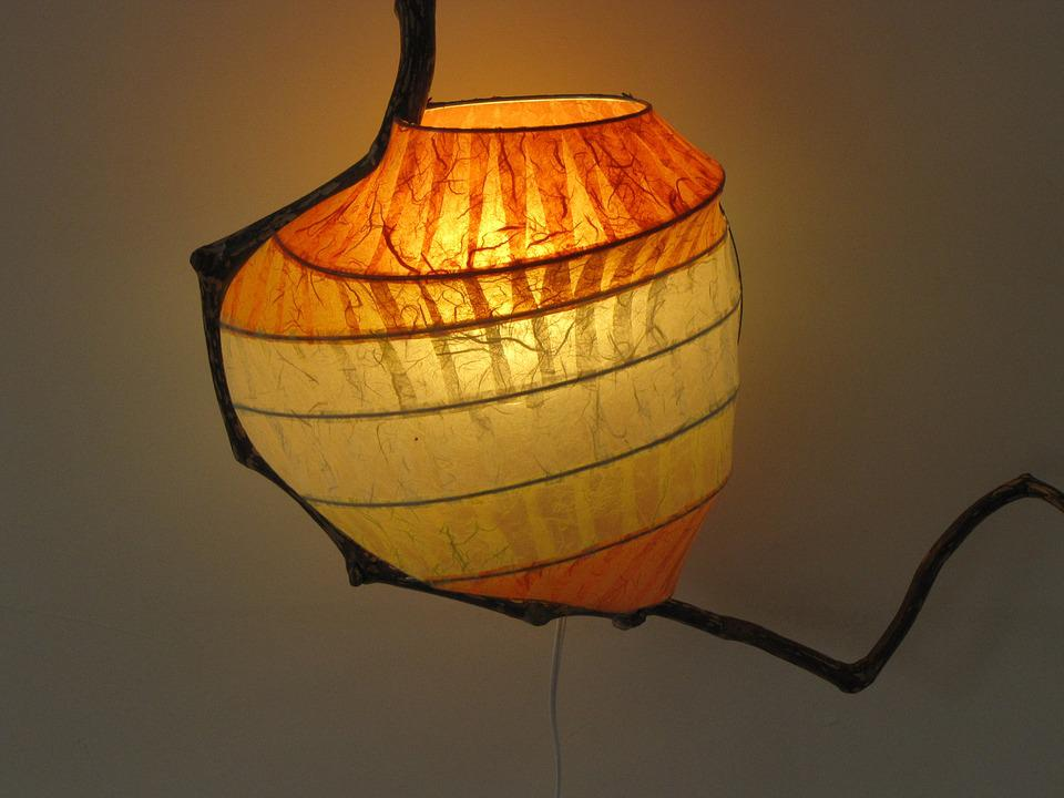 Light Art, Lamp, Natural Materials