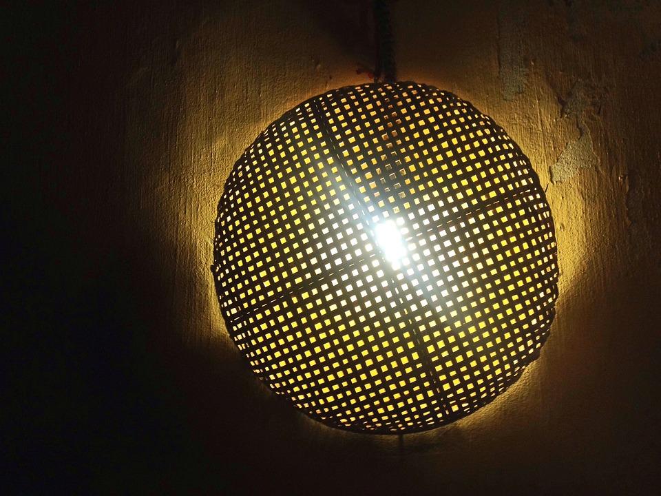 Light, Lamp, Grid, Pattern, Design, Electricity