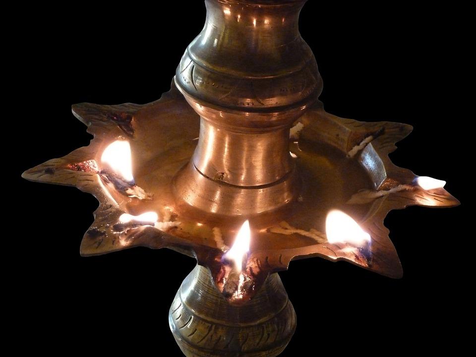 Light, Lamp, Oil Lamp, Buddhism, Seem, Temple, Asia