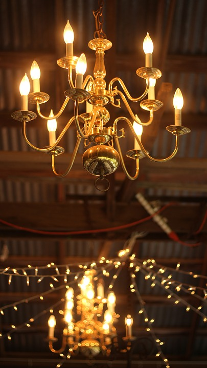 Chandelier, Night, Light, Lamp, Lighting, Dark, Old