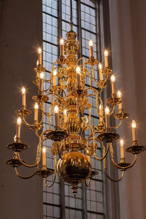 Lamp, Candle, Ornament, Chandelier, Religion, Light