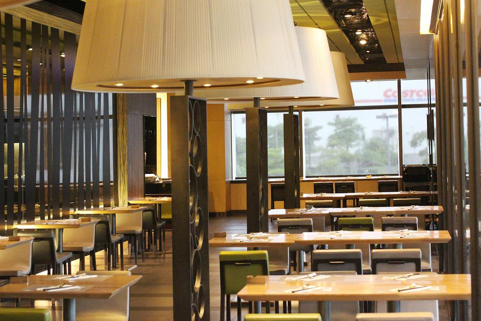 Space, Indoor, Restaurant, Tables And Chairs, Lamp
