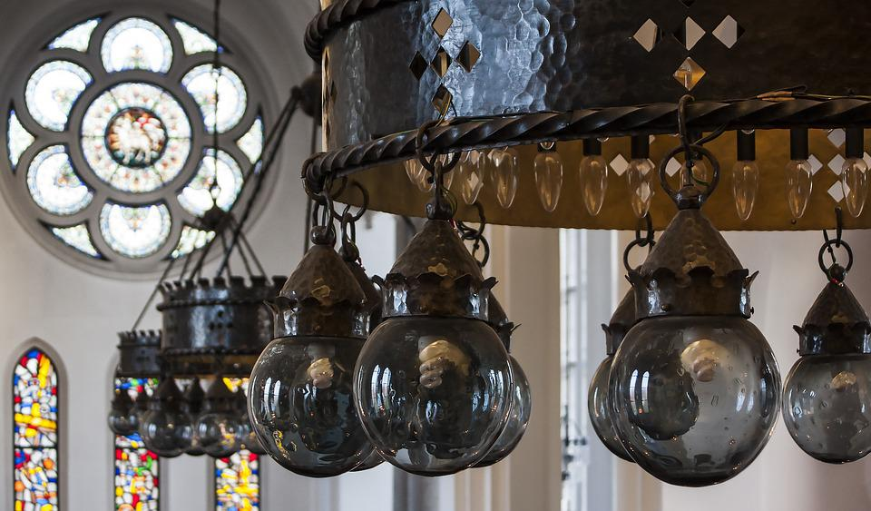 Hässleholm, Church, Interior, Sweden, Light, Lamp