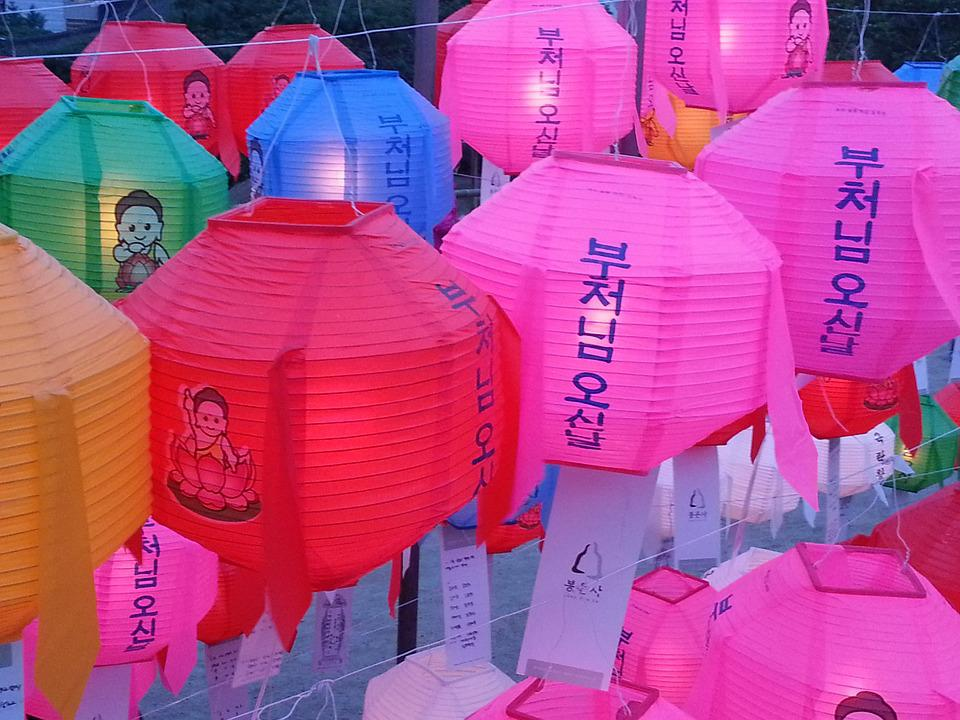 Paper Lantern, Lampion, Festival, Lotus, Korea, Seoul