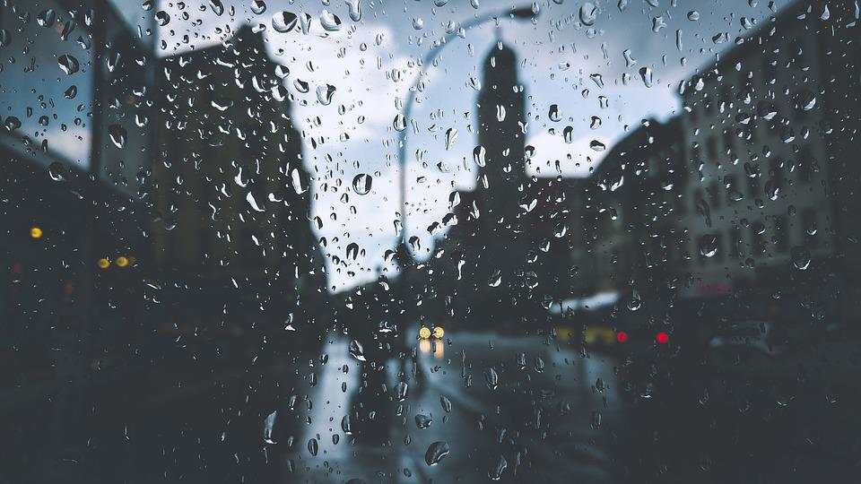Buildings, Droplets, Drops, Glass, Lamppost, Liquid