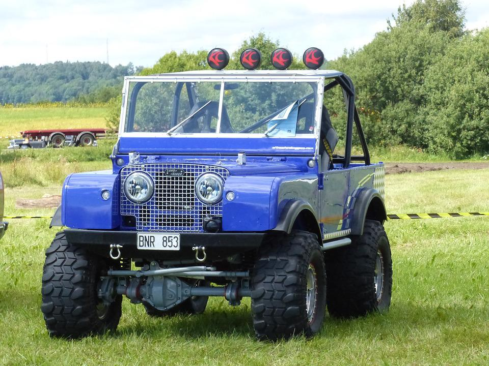 Jeep, Land-rover, Car Show, Falköping, Grass, Summer