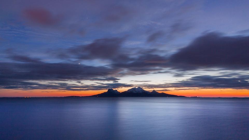 Landegode, Bodø, Nordland, Mountain, Sunset, Norwegian
