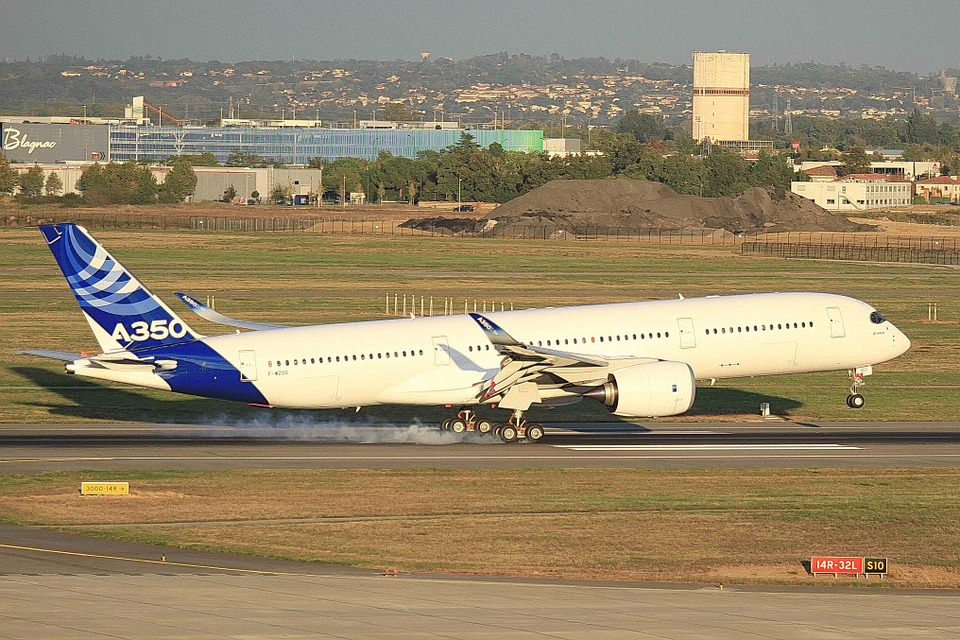 Airbus, A350, Aircraft, Landing