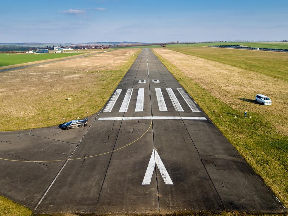Runway, Airport, Landing