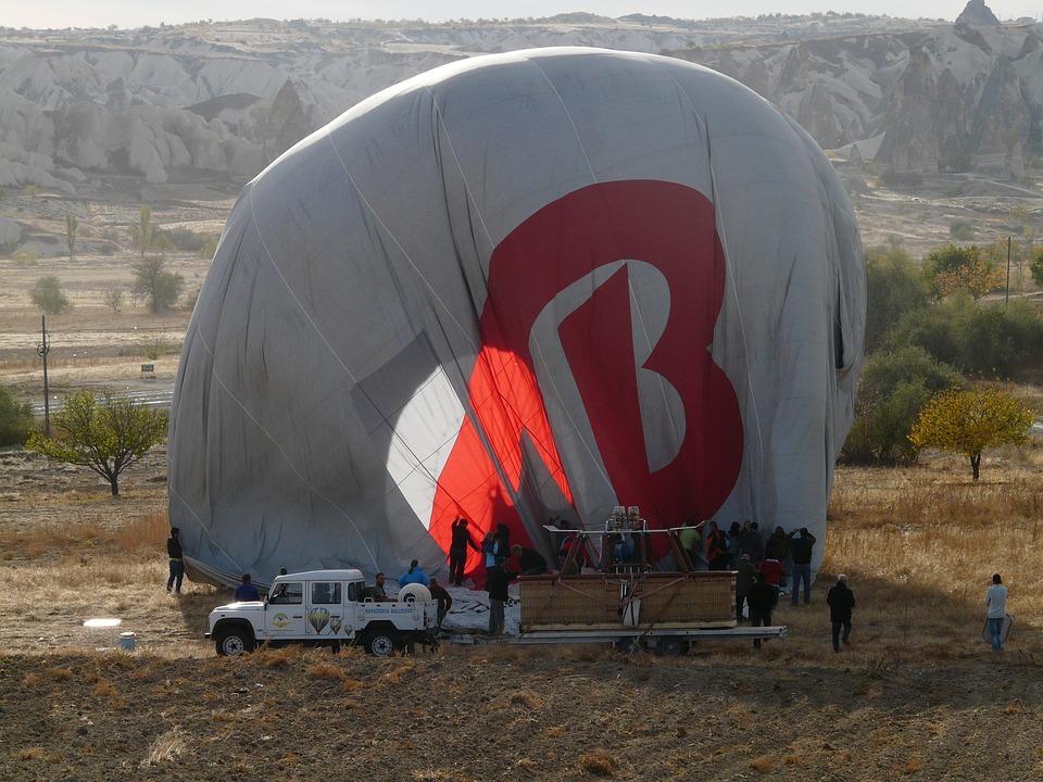 Hot Air Balloon Ride, Landing, Folding, Hot Air Balloon