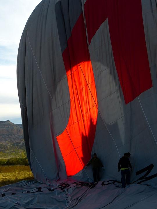 Balloon, Hot Air Balloon, Sleeve, Landing, Folding