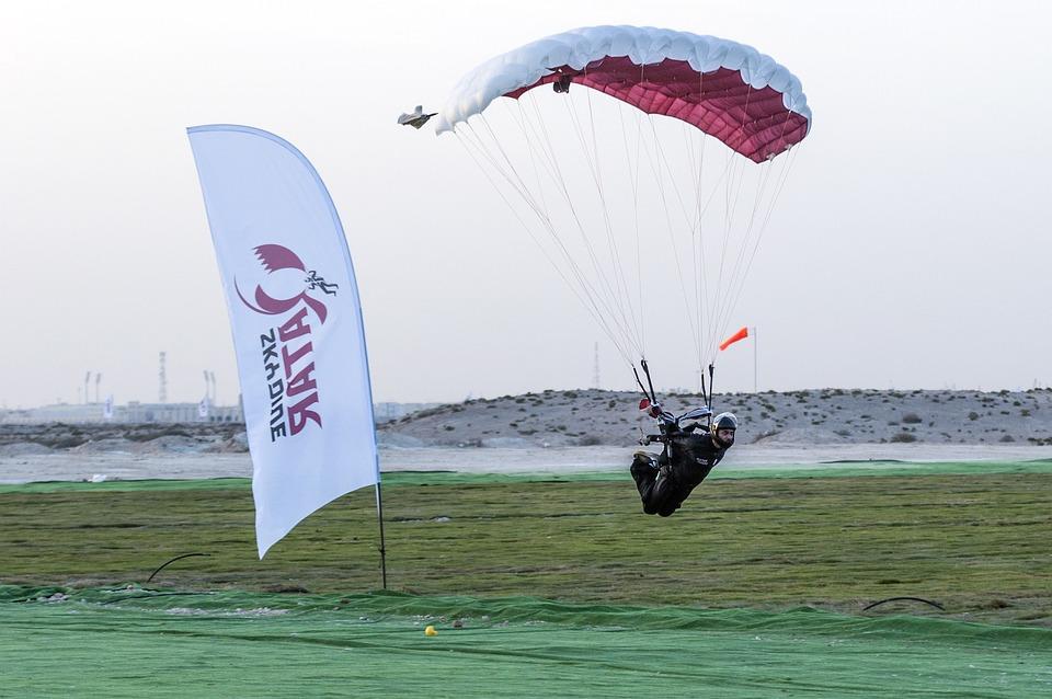 Skydiving, Extreme Sports, Landing, Parachute