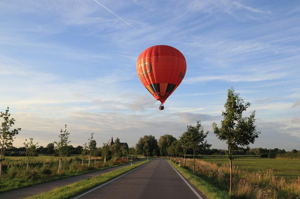 Germany, September, 2016, Hot, Air, Balloon, Landing