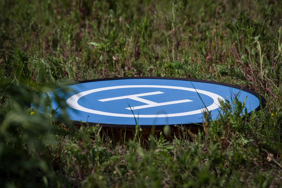 Landing Site, Drone, Land, Hobby, Quadrocopter, Meadow