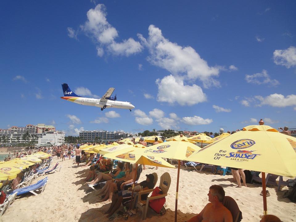St Maarten, Beach, Landing, Aircraft