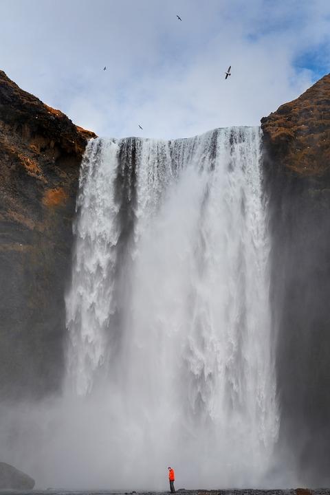 Iceland, Skogafoss, Waterfall, April, Outdoor, Landmark