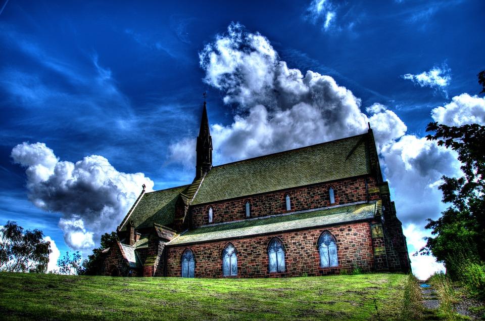 Church, Landmark, Hdr, Architecture, Building