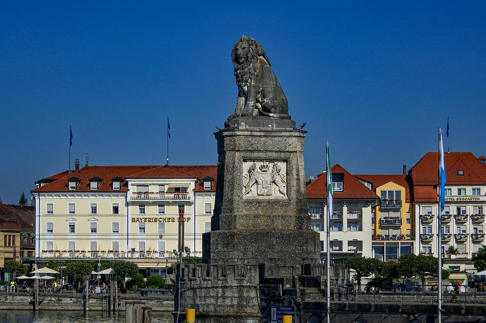 Lion, Lindau, Architecture, Landmark, Harbour Entrance
