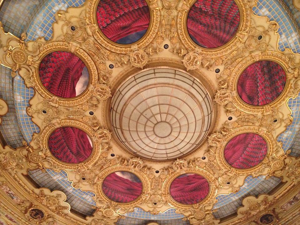 Ceiling, Liceu, Opera, Barcelona, Landmark, Tourism