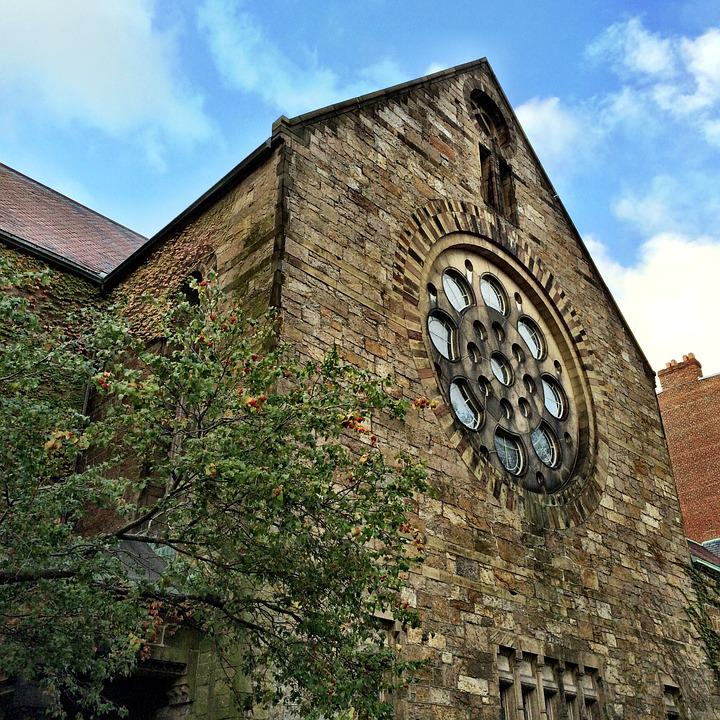 Church, Boston, Landmark, Fenster, Rosette