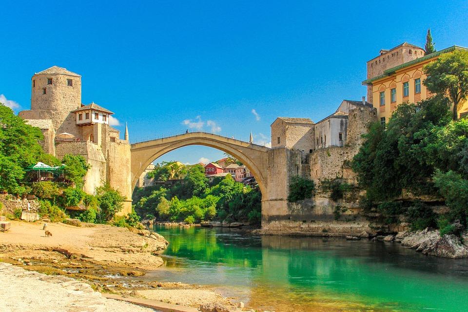 Bosnia, Europe, Herzegovina, Country, Blue, Landmark