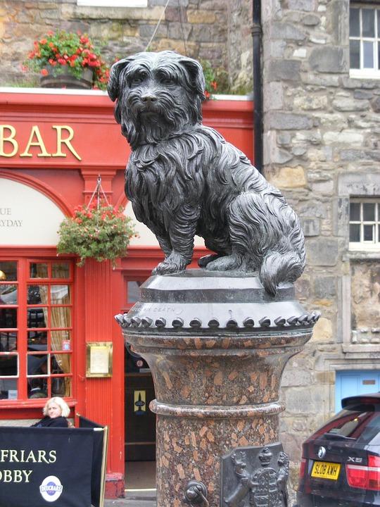 Dog, Statue, Edinburgh, Scotland, Landmark, Symbol, Pet