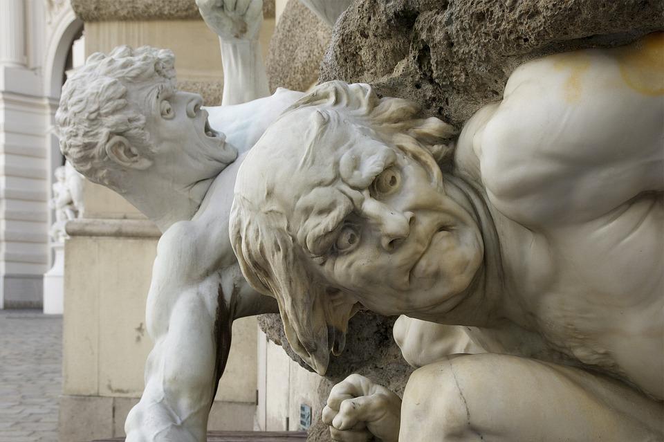 Vienna, Austria, Sculpture, Men, Expressive, Landmark