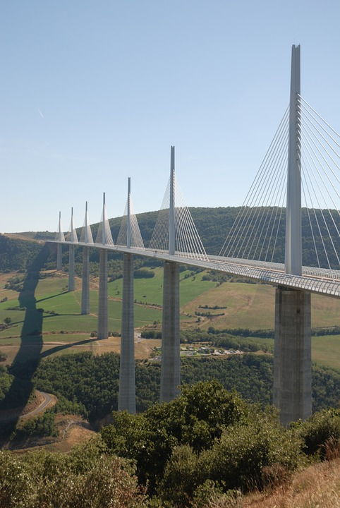 Bridge, France, Architecture, Landscape, Landmark