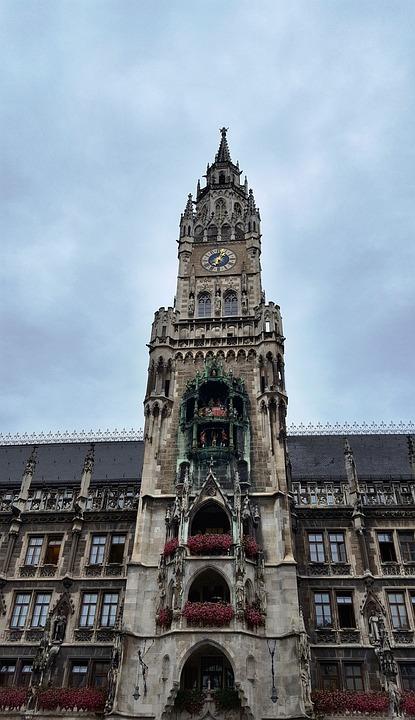Building, Town Hall, Munich Old, Marienplatz, Landmark