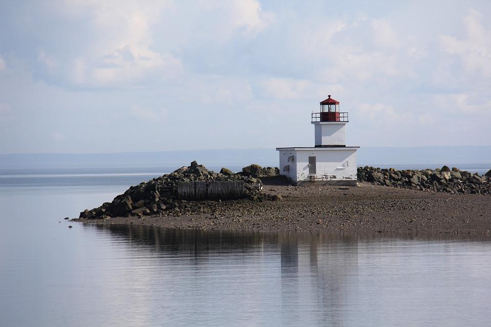 Lighthouse, Ocean, Sea, Coast, Landmark, Coastline