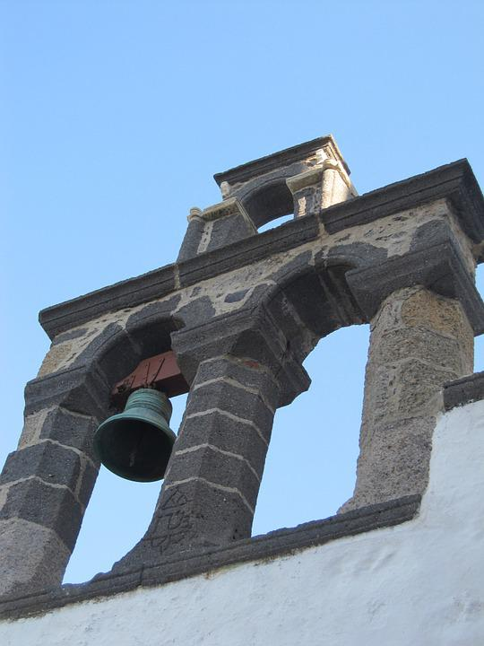 Bell, Church, Greece, Old, Landmark, Blue, Sky