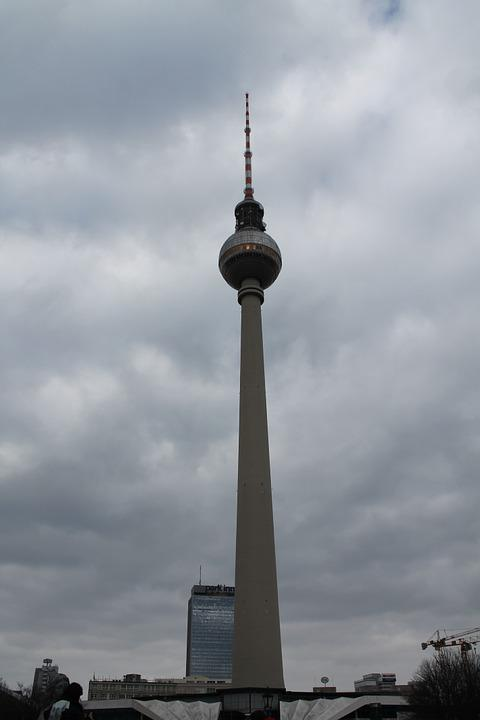 Berlin, Landmark, Tv Tower, Places Of Interest
