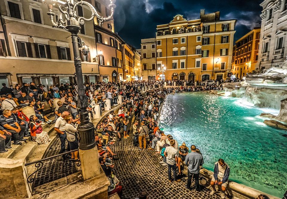 Trevi, Fountain, Rome, Italy, Italian, Roman, Landmark