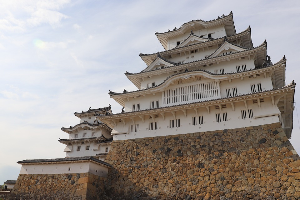 Castle, Roof, Architecture, Landmark, Japan, Himeji
