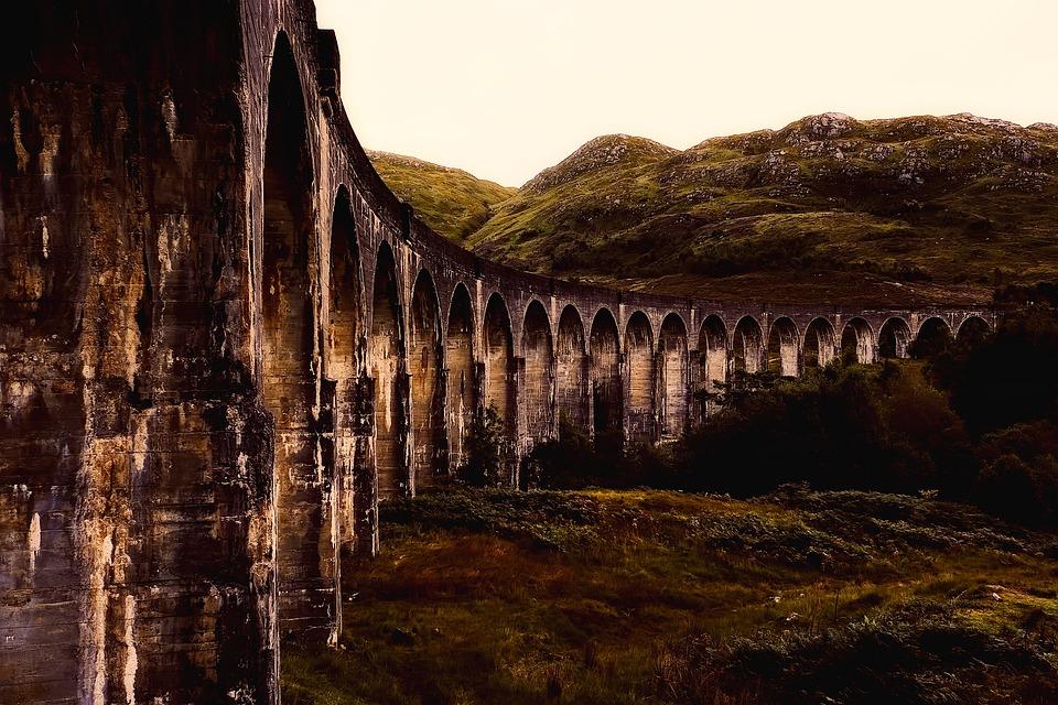 Viaduct, Structure, Landmark, Historic, Scotland