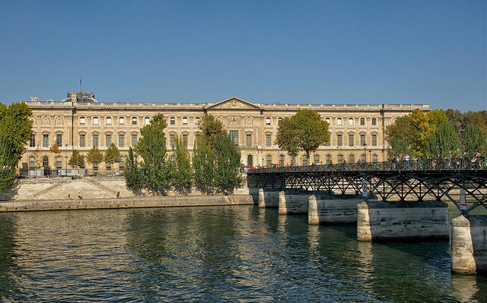 Paris, France, Louvre Palace, Building, Landmark, Sky