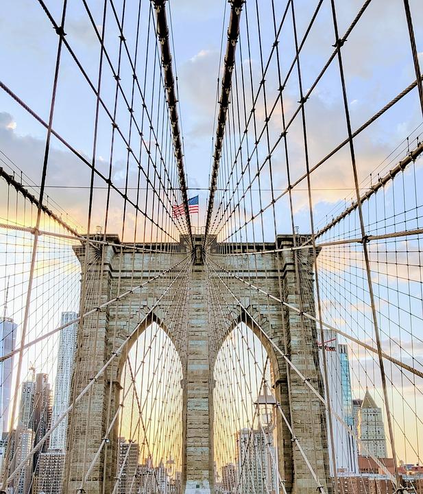 Bridge, Usa, New York City, Ny, Landmark, Travel, City