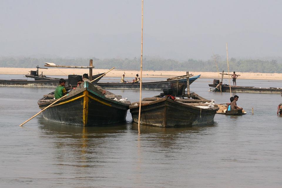 Boat On River, Asad, Birishiri, Landscape, 2 Boat