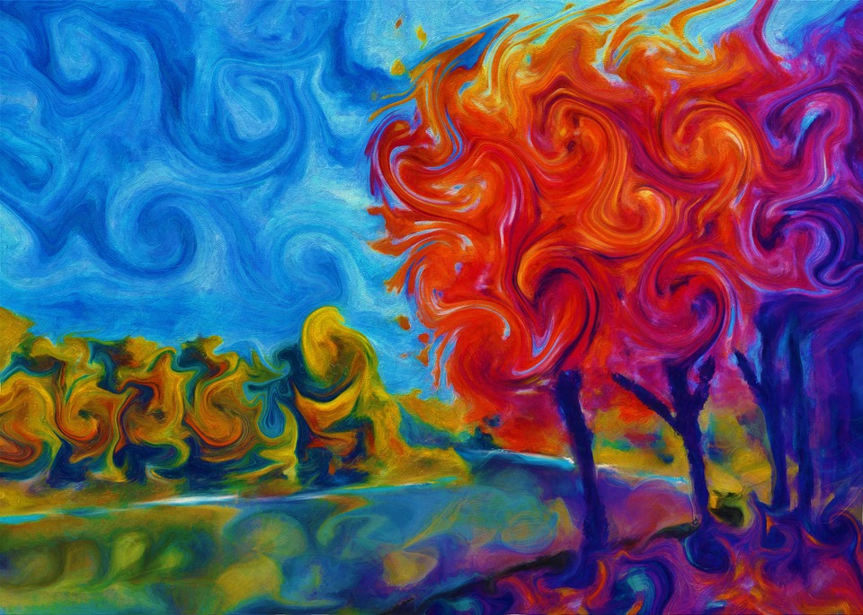 Abstract, Landscape, Nature, Beauty, Brush, Art
