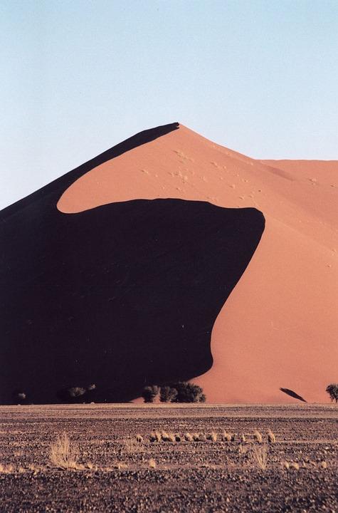 Namibia, Duna, Sand, Desert, Africa, Landscape, Shadow