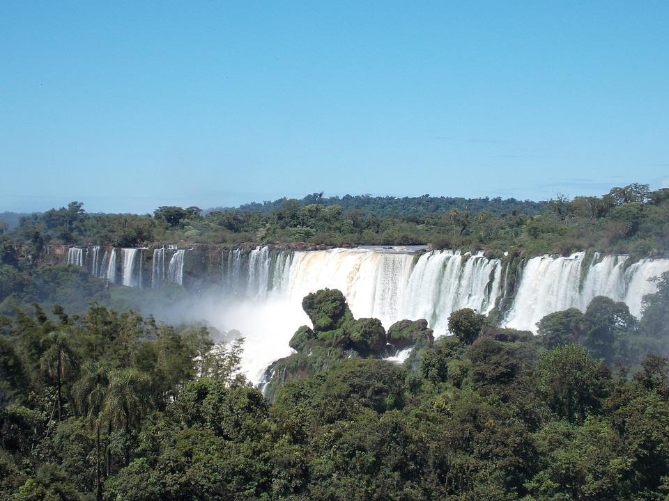 Falls, Iguazu, Water, Jungle, Argentina, Landscape