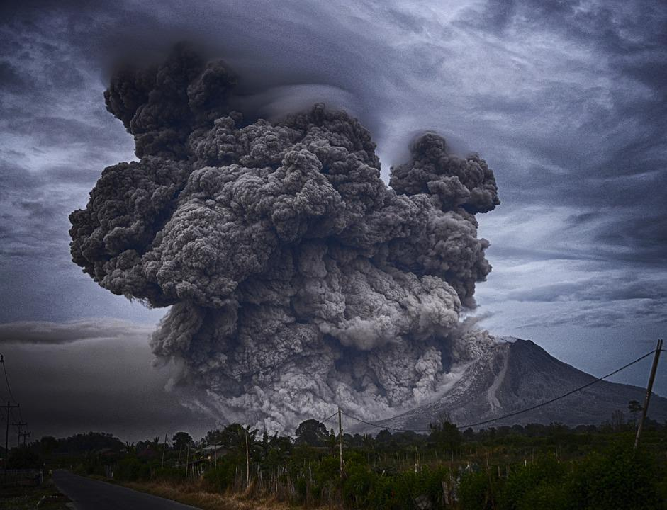 Ashes, Eruption, Landscape, Outdoors, Smoke, Volcano