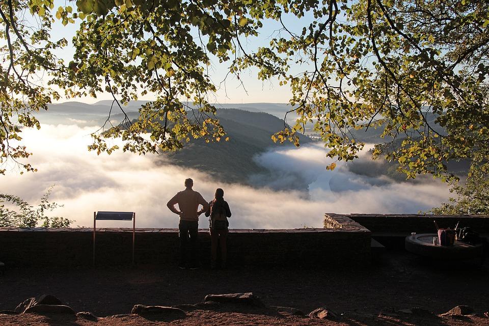 Fog, Landscape, Autumn, View, Nature, Mood, Lighting
