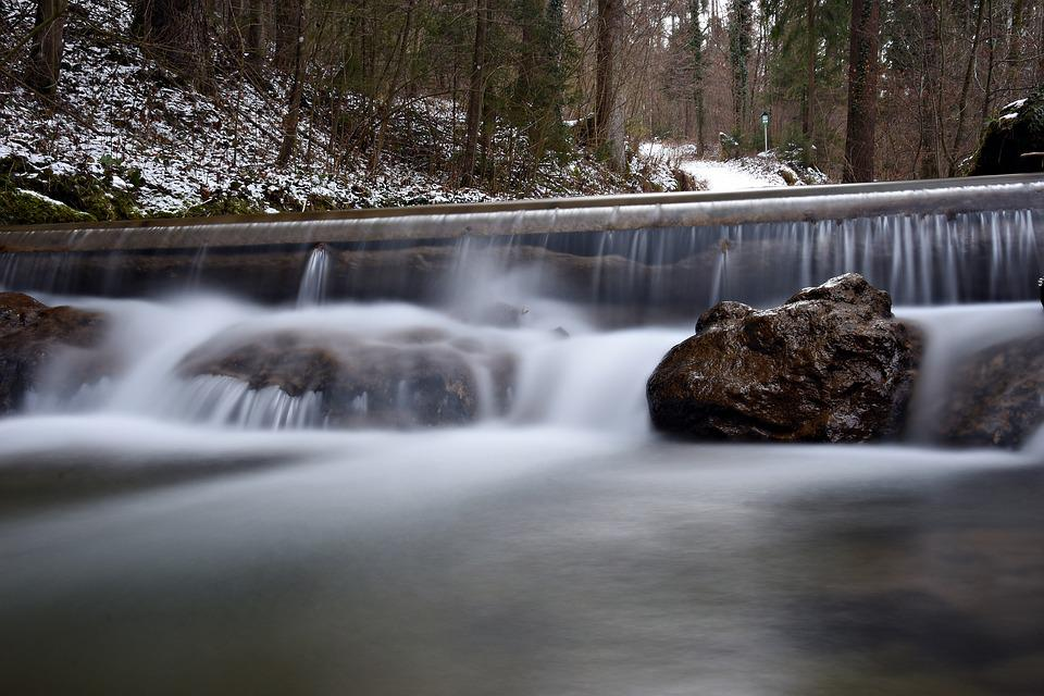 Long Exposure, Water, River, Bach, Waterfall, Landscape