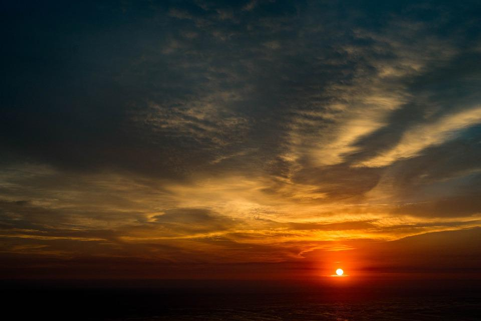 Sunset, Sun, Landscape, Clouds, Ballet
