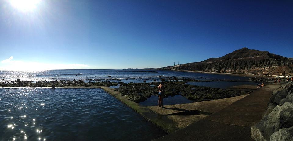 Sea, Pool, Landscape, Blue, Summer, Bathroom, Holiday