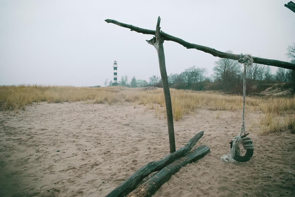 Landscape, Sand, Beach
