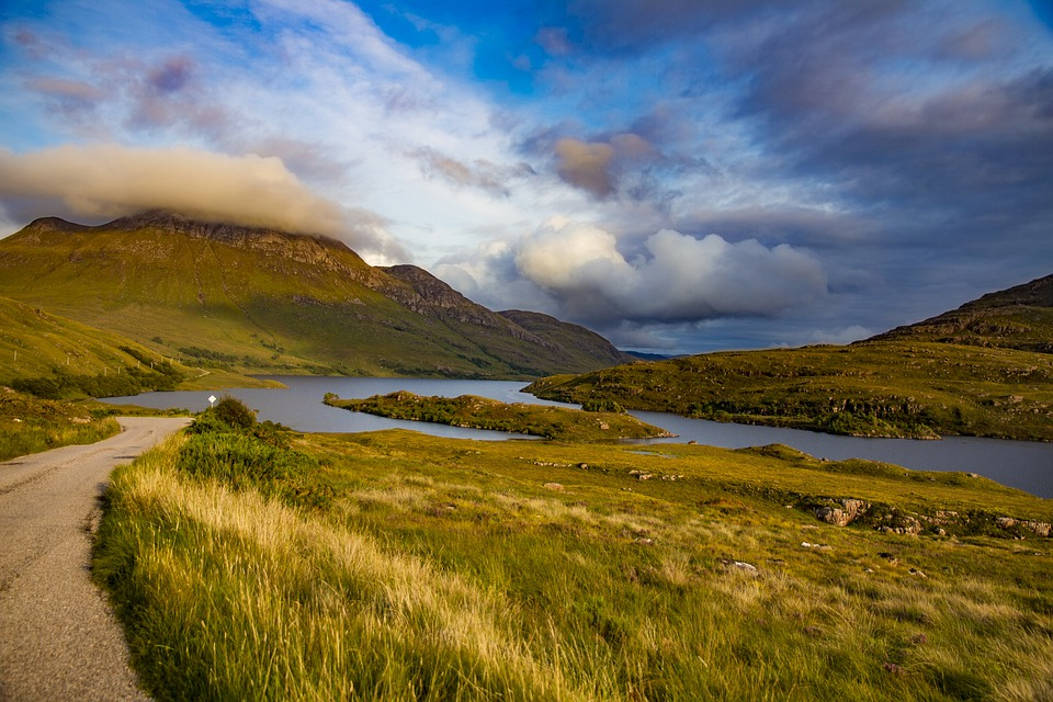 Landscape, Nature, Beauty, Sky, Clouds, Path, Scenic