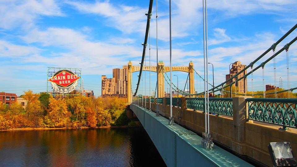 Bridge, Beer, River, Mississippi, Buildings, Landscape